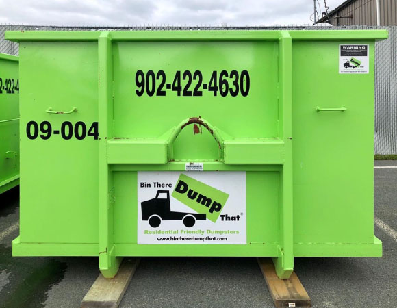 Bin Rental with Driveway Protection Boards in Halifax, NS